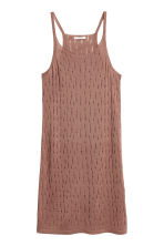 Hole-patterned dress - Vintage pink - Ladies | H&M CN 2