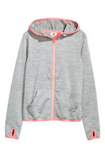Sports jacket with a hood - Grey marl -  | H&M 2