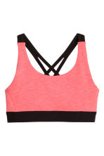 Sports top - Coral pink -  | H&M CA 1