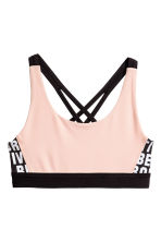 Sports top - Powder pink -  | H&M 1