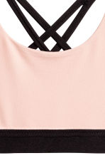 Sports top - Powder pink -  | H&M 2