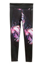 Sports tights - Black/Purple -  | H&M 2