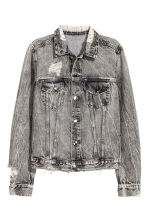 Trashed denim jack - Zwart washed out - DAMES | H&M NL 2