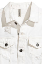 Trashed denim jacket - White denim - Ladies | H&M CN 3