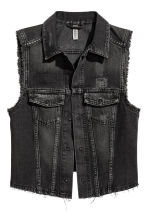 Denim gilet - Black washed out - Ladies | H&M CN 2