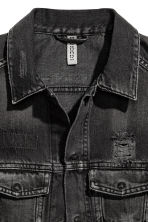 Denim gilet - Black washed out - Ladies | H&M CN 3