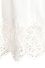 Cotton lace top - White -  | H&M CN 3