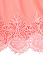 Cotton lace top - Coral pink -  | H&M 3