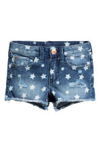 Patterned denim shorts - Denim blue/Star - Kids | H&M 2