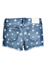 Patterned denim shorts - Denim blue/Star - Kids | H&M 3