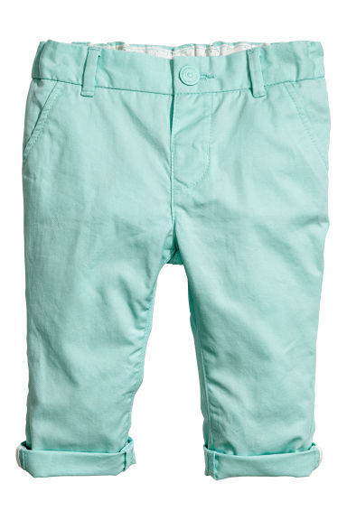 Chinos - Mint green - Kids | H&M CN 1