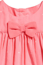 Cotton dress - Coral pink -  | H&M 2