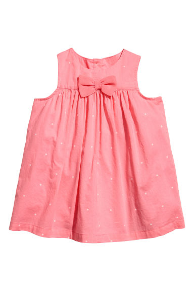 Cotton dress - Coral pink -  | H&M 1