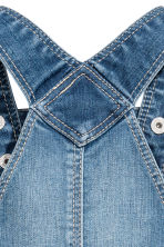 Salopette corta in denim - Blu denim -  | H&M IT 3