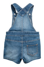 Denim dungaree shorts - Denim blue -  | H&M 2