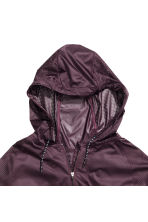 Sports jacket with a hood - Plum - Ladies | H&M 3