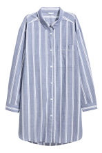 Cotton nightshirt - Blue/Striped - Ladies | H&M GB 1