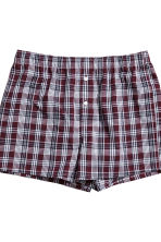 3件入四角褲 - Burgundy/Checked - Men | H&M 4