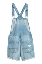 Denim dungaree shorts - Light denim blue - Ladies | H&M CN 3