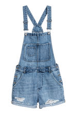 Denim salopetteshort - Denimblauw - DAMES | H&M NL 2
