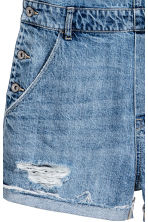 Denim dungaree shorts - Denim blue - Ladies | H&M CN 4