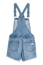 Denim dungaree shorts - Denim blue - Ladies | H&M CN 3