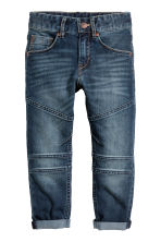 Reinforced Tapered Jeans - Dark denim blue - Kids | H&M 2