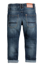 Reinforced Tapered Jeans - Dark denim blue - Kids | H&M 3