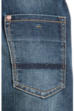 Reinforced Tapered Jeans - Dark denim blue - Kids | H&M 4