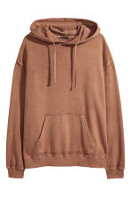 Washed hooded top - Camel - Men | H&M CN 1