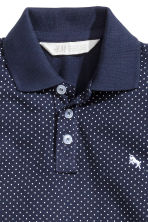 Polo shirt - Dark blue/Spotted - Kids | H&M 3