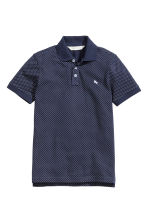 Polo shirt - Dark blue/Spotted - Kids | H&M 2