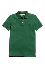Polo in piqué - Verde scuro - BAMBINO | H&M IT 2