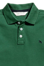 Polo in piqué - Verde scuro - BAMBINO | H&M IT 3