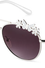 Sunglasses - Silver/White -  | H&M 3