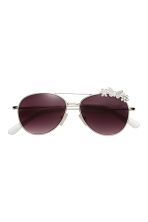 Sunglasses - Silver/White -  | H&M 2