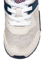 Mesh trainers - Light beige marl - Kids | H&M 4