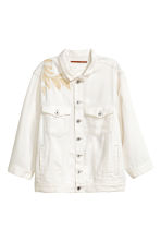 Lyocell denim jacket - White denim -  | H&M 2
