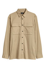 Utility shirt Regular fit - Beige - Men | H&M CN 2