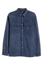 Utility shirt Regular fit - Dark denim blue - Men | H&M 2