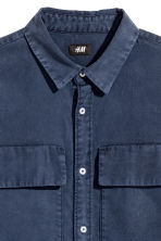 Utility shirt Regular fit - Dark denim blue - Men | H&M 3