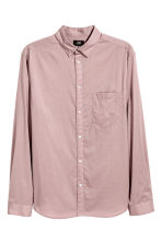 Cotton shirt Regular fit - Light heather - Men | H&M 2