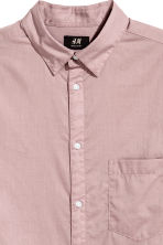 Cotton shirt Regular fit - Light heather - Men | H&M 3