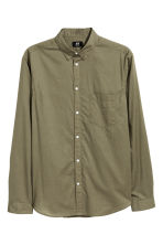 Cotton shirt Regular fit - Khaki green -  | H&M 2