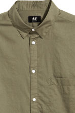 Cotton shirt Regular fit - Khaki green -  | H&M 3