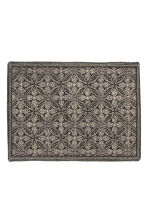 Patterned bath mat - Anthracite grey/Natural white - Home All | H&M CN 2