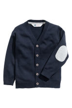 Fine-knit cardigan - Dark blue - Kids | H&M CN 2