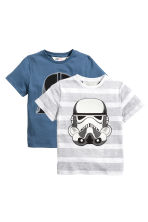 2-pack T-shirts - Blue/Star Wars - Kids | H&M CN 2