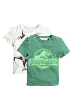 2-pack T-shirts - Green/Jurassic World - Kids | H&M 2