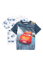 2-pack t-shirts - Vit/Cars - Kids | H&M FI 2